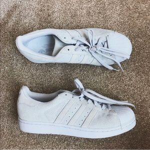 Adidas Superstar Suede Sneaker in Grey/Light Blue